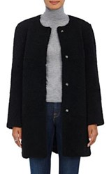 Barneys New York Women's Lamb Shearling Cocoon Coat Black
