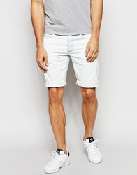 G Star G Star Denim Shorts 3301 Light Aged Bleached Distressed White