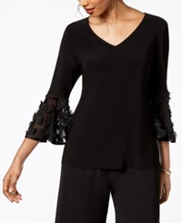 Msk Illusion Bell Sleeve Top Black