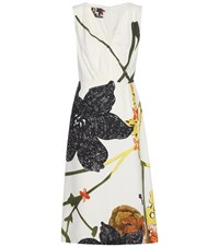 Prada Printed Dress White
