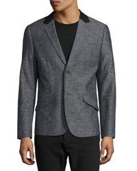 Howe Linen Blend Two Button Blazer Fade To Bl