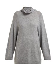 The Row Mandel Cashmere Blend Roll Neck Sweater Grey