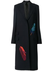 Paul Smith Single Breasted Coat Cupro Wool Blue
