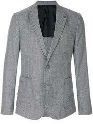 Ami Alexandre Mattiussi Two Buttons Half Lined Jacket Grey