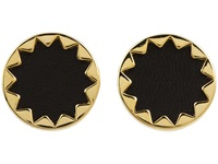 House Of Harlow Sunburst Button Earrings 14K Yellow Gold Plated Earring