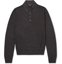 Berluti Wool Polo Shirt Charcoal