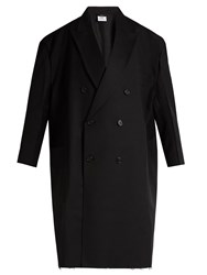 Vetements X Brioni Oversized Double Breasted Wool Coat Black