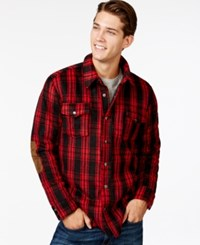 American Rag Perry Shacket Red
