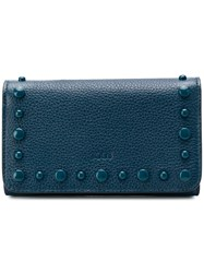 Tod's Stud Detail Wallet Blue