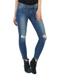 Paige Verdugo Ankle Knee Ripped Skinny Jeans Keiran Destructed