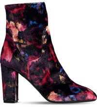 Lk Bennett Pellino Floral Print Heeled Ankle Boots Pri Floral