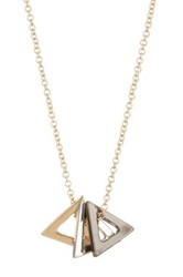 14Th And Union Triple Triangle Pendant Necklace Metallic
