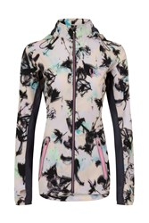Elle Sport Printed Lightweight Jacket With Mesh Detail Multi Coloured Multi Coloured