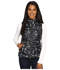 Spyder Timeless Down Vest Waves Black Black Women's Vest