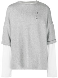 Unravel Project Layered Sweatshirt Longsleeve Grey