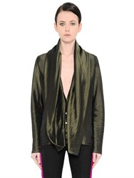 Haider Ackermann Draped Techno Satin Shirt