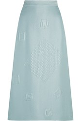 Hillier Bartley Quilted Jacquard Midi Skirt Mint