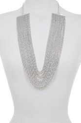 Natasha Accessories Multi Strand Chain Necklace Metallic