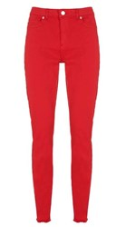 Mint Velvet Red Long Paxton Skinny Jean Red