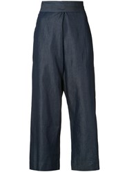 Vivienne Westwood Anglomania Denim Culottes Women Cotton Lyocell 38 Blue
