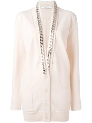 Givenchy Chain Trim Cardigan Pink Purple