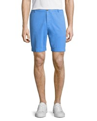 Tailorbyrd Twill Flat Front Shorts Blue