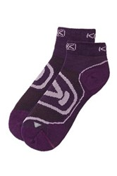 Keen Women's Zip Hyperlite Low Cut Socks Purple