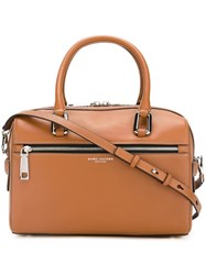 Marc Jacobs 'West End' Bauletto Tote Nude And Neutrals