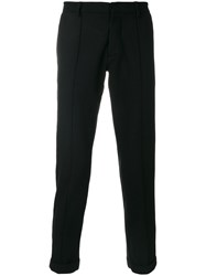 Gcds Branded Side Stripe Tailored Trousers Cotton Acrylic Polyester Other Fibers L Black