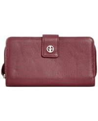 Giani Bernini Softy Leather All In One Wallet Oxblood