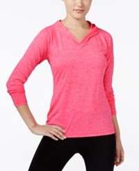 Ideology Essential Heathered Hooded Top Only At Macy's Molten Pink