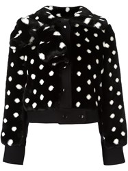 Marc Jacobs Faux Fur Dotted Jacket Black