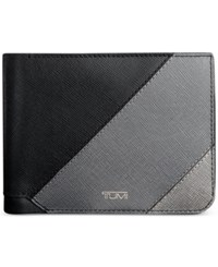 Tumi Men's Global Leather Double Billfold Grey