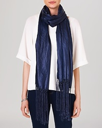 Phase Eight Amie Silk Scarf Navy