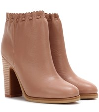See By Chloe Leather Ankle Boots Neutrals