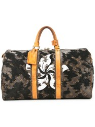 Jay Ahr Flower Embroidered Vintage Louis Vuitton Keepall Brown