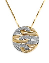 Effy Duo Diamond 14K White And Yellow Gold Pendant Necklace Two Tone