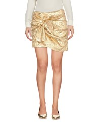 Ndegree 21 Mini Skirts Gold