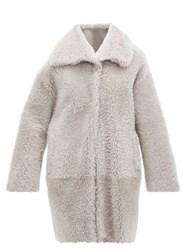 Herno Shearling Coat Light Grey