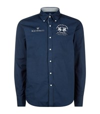 La Martina Logo Patch Shirt Male Navy