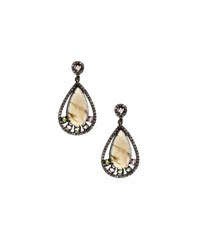 Bavna Labradorite Diamond Drop Earrings