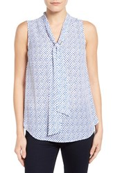 Women's Halogen Tie Neck Sleeveless Blouse