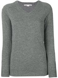 Stella Mccartney V Neck Pullover Grey