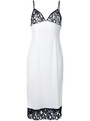 Dressedundressed Lace Detail Mid Dress White