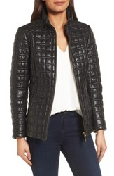 Kate Spade Women's New York Quilted Leather Jacket Black