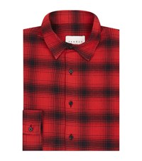 Sandro Grizzly Check Shirt Male Grey