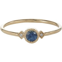 Jennie Kwon Sapphire Diamond And Gold 'Sotto Voce' Ring