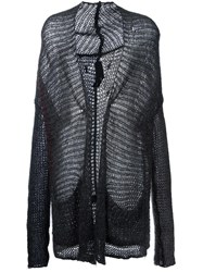 Isabel Benenato Long Cardigan Grey