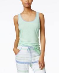Nautica High Low Hem Pajama Tank Ash Green