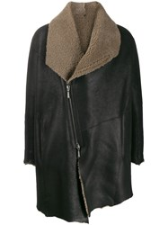 Masnada Shearling Raw Edge Coat 60